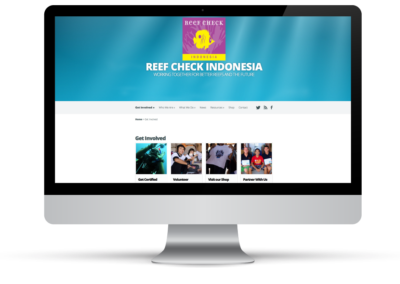 Reef Check Indonesia – Web Design