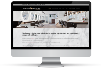 Samson & Delilah Hair Body Face – Website Design & Stationary
