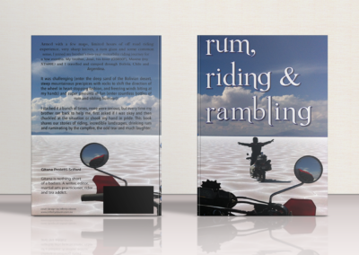 Rum, Riding & Rambling – Book Cover Design